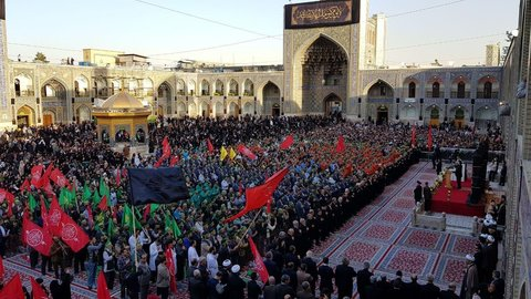آیین بدرقه خادمان اربعین حسینی با حضور تولیت آستان قدس رضوی