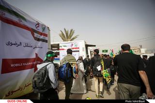 استقرار بیمارستان سیار رضوی در مسیر پیاده روی اربعین حسینی