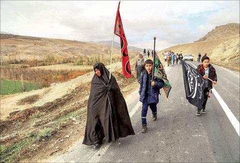 زائران پیاده امام رضا