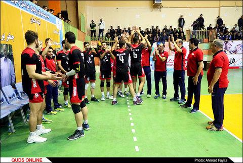 دیدار نفس گیر تیم والیبال پیام مشهد مقابل شهروند اراک