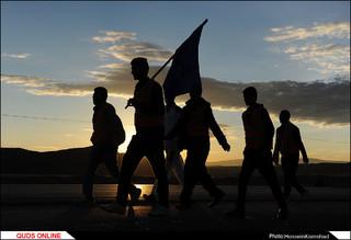 پیاده روی زائران امام رضا (ع)/گزارش تصویری
