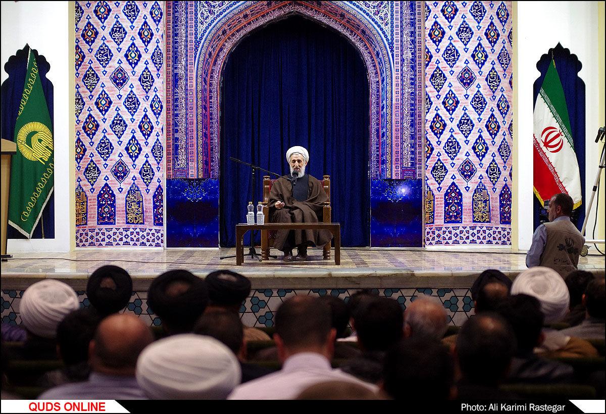 آیین گرامیداشت حضرت آیت الله سید علی فاضی(ره) در مشهد/گزارش تصویری