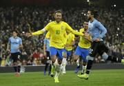 شکست اروگوئه مقابل برزیل با پنالتی نیمار