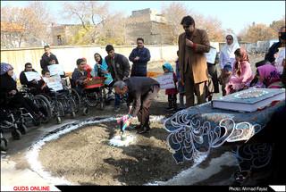 مراسم کلنگ زنی طرح جامع آسایشگاه معلولان شهید فیاض بخش