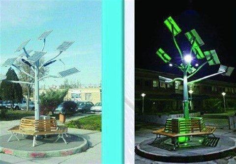 """نخستین """"درخت خورشیدی"""" چندمنظوره کشور در اراک رونمایی میشود"""