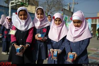 آیین افتتاح طرح تغذیه رایگان دانش آموزان محروم