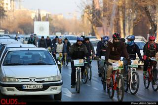 همایش دوچرخه سواری به مناسبت هفته هوای پاک