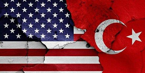 پرچم ترکیه و امریکا