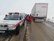امدادرسانی به ۲۸۳ حادثه دیده در برف و کولاک محور قوچان - درگز
