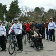 """آغاز به کار """"پلیس دوچرخه سوار """"راهنمایی و رانندگی در نیشابور"""