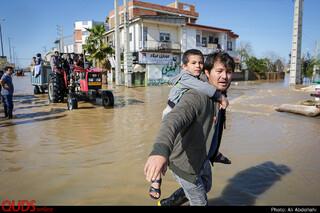 سیلاب در آققلا استان گلستان