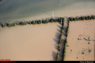 تصاوير هوايي سيل در استان گلستان