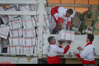 امداد رسانی جمعيت هلال اهمر به سیل زدگان «آققلا»