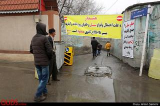 جاری شدن سیلاب در رودخانه های اطراف مشهد