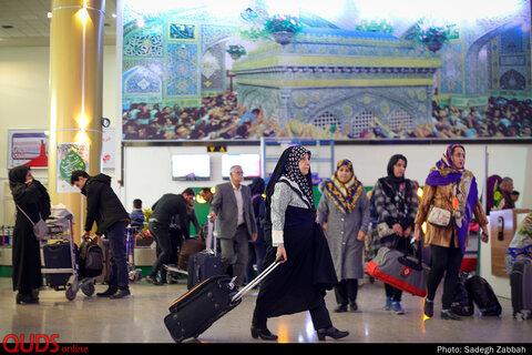 ورود زائران نوروزی مشهد از طریق فرودگاه هاشمی نژاد