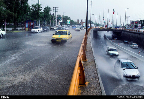 بارش شدید باران