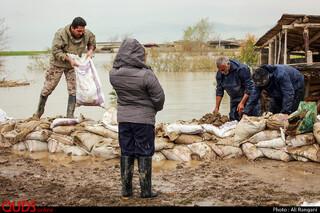 کمک رسانی بنیاد کرامت امام رضا علیه السلام در مناطق سیل زده آق قلا