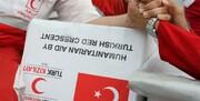 """توزیع کمکهای هلال احمر """"ترکیه"""" در روستای """"تازه آباد"""" آق قلا"""