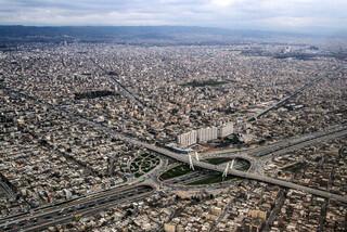نمای هوایی از شهر مشهد
