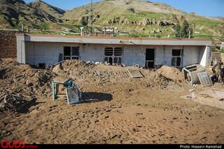 خسارات روستای سیل زده چم مهر - پلدختر