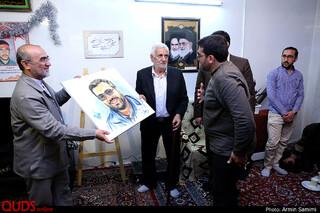 اهدای دومین نشان فرهنگی هنری شهید منصوب