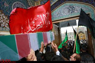 تشییع پیکر شهید مدافع حرم مجید قربانخانی در مشهد