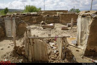 خسارات سیل در روستای چاله زرد سرخس