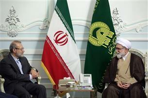 دیدار حجت الاسلام مروی و علی لاریجانی