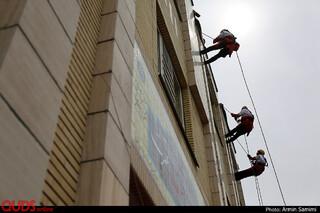 مانور تخصصی امداد،نجات و ایمنی در مدرسه-مشهد