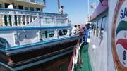 نجات جان ۵ صیاد لنج حادثه دیده در آبهای دریای عمان