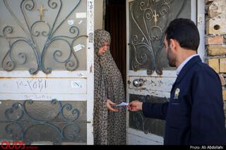 توزیع فیش غذا متبرک حرم مطهر رضوی در حاشیه شهر مشهد