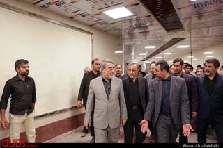بازدید وزیر کشور از پروژه خطوط مترو مشهد