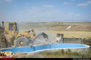 تخریب باغ ویلاهای غیر مجاز
