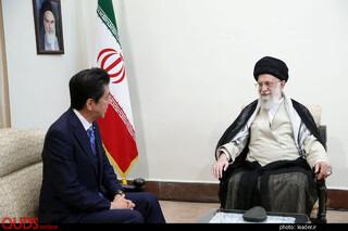 دیدار نخست وزیر ژاپن و هیئت همراه با رهبر معظم انقلاب اسلامی