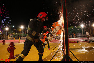 اولین المپیاد بزرگ عملیاتی آتش نشانی در مشهد