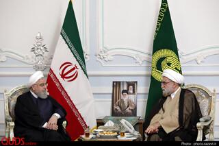 دیدار رئیس جمهور با تولیت آستان قدس رضوی