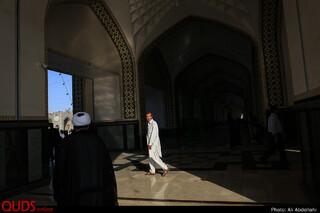 مراسم ارتحال آیت الله محقق کابلی در حرم مطهر رضوی
