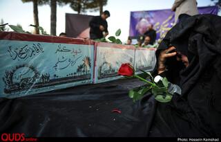 ورود پیکر هفت شهید دفاع مقدس به فرودگاه مشهد