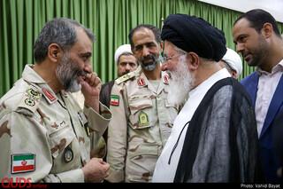 دیدار فرماندهان مرزبانی کشور با امام جمعه مشهد