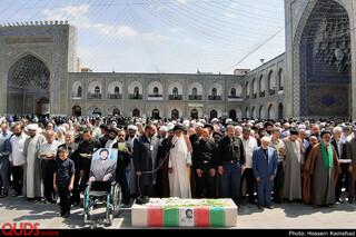 تشییع پیکر جانباز شهید کاشف الحسینی