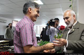 دیدار قائم مقام آستان قدس رضوی با خبرنگاران روزنامه قدس به مناسبت روز خبرنگار