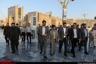 عطر افشانی مزار شهدا در سالروز شهادت شهید صارمی و روز خبرنگار