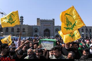 تشییع شهید مدافع حرم سید ناظر موسوی