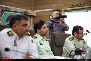 نشست خبری سردار فرماندهی انتظامی استان خراسان رضوی به مناسبت روز خبرنگار