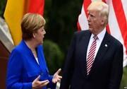 ترامپ: با مرکل درباره تحریمهای ایران گفتوگو میکنم