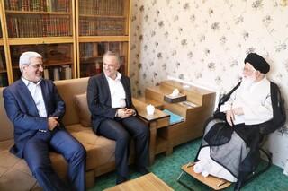 دیدار معاون سیاسی وزیر کشور با آیتالله علم الهدی