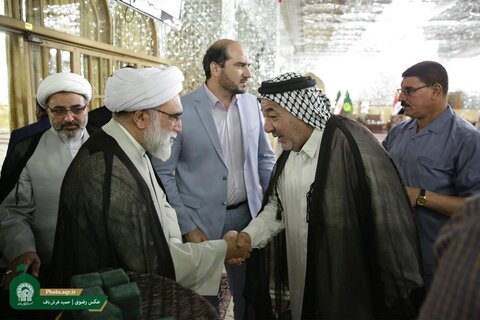 دیدار بزرگان طوایف و موکبدارن عراقی اربعین با تولیت آستان قدس رضوی