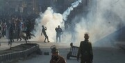 درگیری پلیس هند با ساکنان کشمیر، چندین مجروح برجای گذاشت