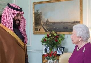 ملکه انگلیس و ولیعهد سعودی
