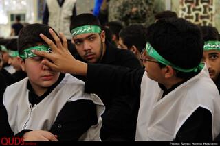 اجتماع عظیم نوجوانان حسینی در حرم امام رضا علیه السلام